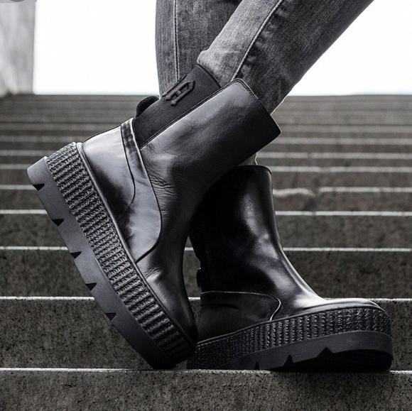 69ac14bd8e90 Puma Fenty x Rihanna Chelsea Black Sneaker Boot